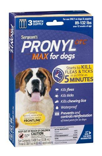Pronyl Otc For Dogs 3 Month Supply 89 132 Lbs Flea